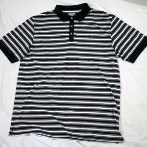 Callaway Mens Short Sleeve Striped Golf Polo Shirt